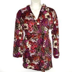 Vera Bradley Fleece Robe Rosewood SZ Large XL Hood